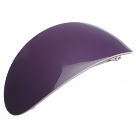 Extra large size oval shape Hair barrette in Violet and ivory