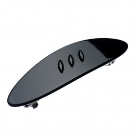 Medium size oval shape Hair barrette in Black