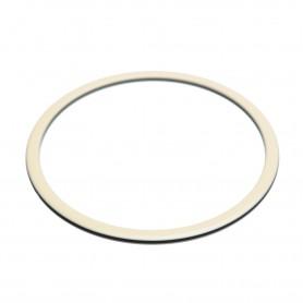 Medium size round shape Bracelet in Ivory and black