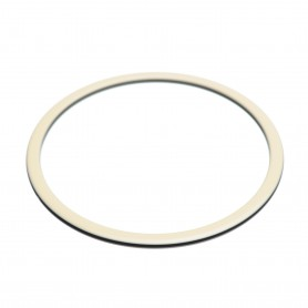 Medium size round shape Bracelet in Ivory and black