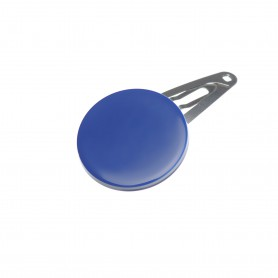 Very small size round shape Hair snap in Blue and white