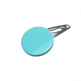 Very small size round shape Hair snap in Turquoise and black