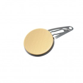 Very small size round shape Hair snap in Gold and black