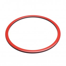 Medium size round shape Bracelet in Marlboro red and black