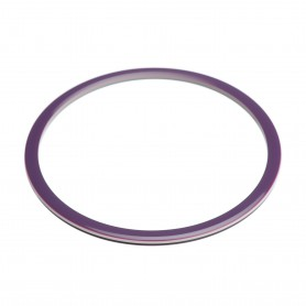 Medium size round shape Bracelet in Violet and ivory