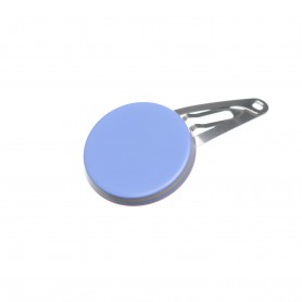 Very small size round shape Hair snap in Sky blue and hazel