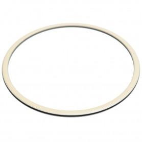 Large size round shape Bracelet in Ivory and black