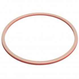 Large size round shape Bracelet in Hazel and coral