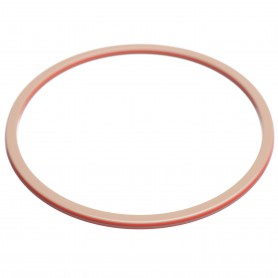 Large size round shape Bracelet in Hazel and coral