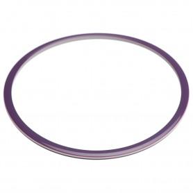 Large size round shape Bracelet in Violet and ivory