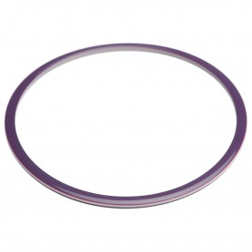 Large size round shape Bracelet in Violet and ivory