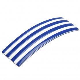 "Lithuanian Made Hairclip ""Navy stripes"""
