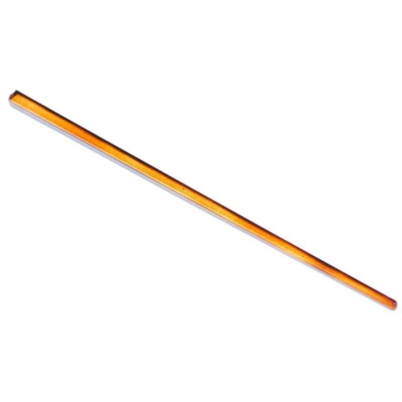Medium size japanese stick shape Hair stick in Brown shiny finish