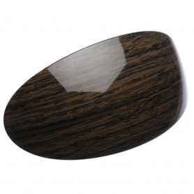 Very large size oval shape Hair barrette in Wood