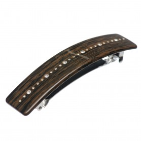 Medium size rectangular shape Hair barrette in Wood