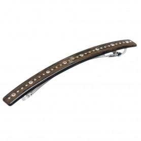 Medium size long and skinny shape Hair barrette in Wood