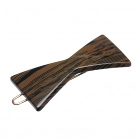 Small size bow shape Hair clip in Wood