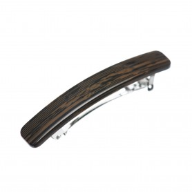 Small size rectangular shape Hair clip in Wood