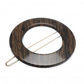 Small size round shape Hair clip in Wood