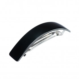 Large size rectangular shape Hair barrette in Black and white