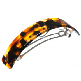 Very large size rectangular shape Hair barrette in Cocoa beans