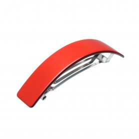 Large size rectangular shape Hair barrette in Marlboro red and black