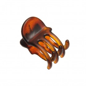 Very small size regular shape Hair jaw clip in Brown