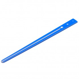 Medium size japanese stick shape Hair stick in Fluo electric blue and light grey