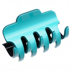 Large size regular shape Hair jaw clip in Turquoise and black