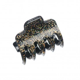 Very small size regular shape Hair claw clip in Gold glitter