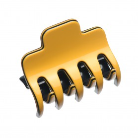 Medium size regular shape Hair jaw clip in Maize yellow and black