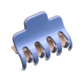 Medium size regular shape Hair jaw clip in Sky blue and hazel