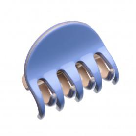 Medium size regular shape Hair jaw clip in Sky blue and hazel