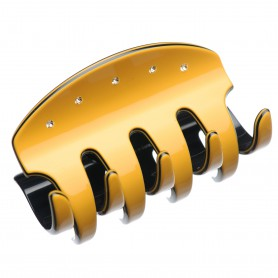 Large size regular shape Hair jaw clip in Maize yellow and black