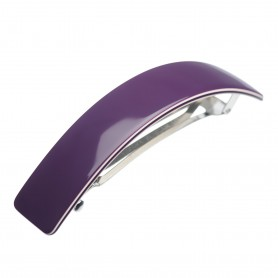 Large size rectangular shape Hair barrette in Violet and ivory