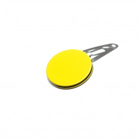 Very small size round shape Hair snap in Yellow and black
