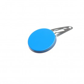 Very small size round shape Hair snap in Blue and hazel
