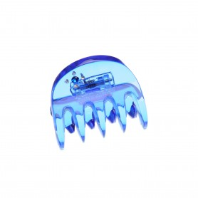 Very small size regular shape Hair jaw clip in Transparent blue