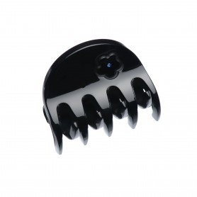 Small size regular shape Hair jaw clip in Black