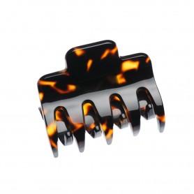 Medium size regular shape Hair jaw clip in Dark brown demi