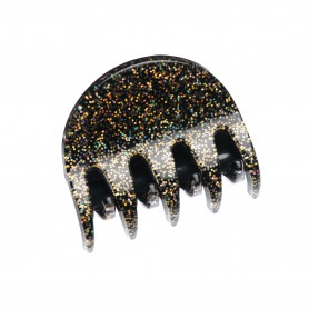 Medium size regular shape Hair jaw clip in Gold glitter