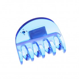 Medium size regular shape Hair jaw clip in Transparent blue