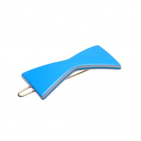 Small size bow shape Hair clip in Blue and hazel