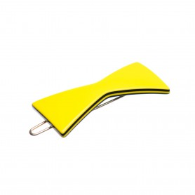 Small size bow shape Hair clip in Yellow and black