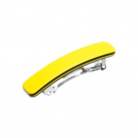 Small size rectangular shape Hair clip in Yellow and black