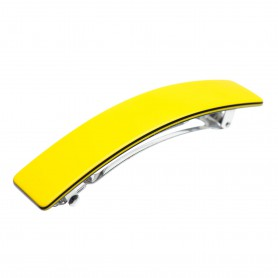Medium size rectangular shape Hair barrette in Yellow and black