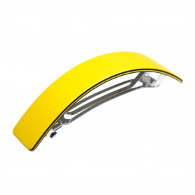 Large size rectangular shape Hair barrette in Yellow and black