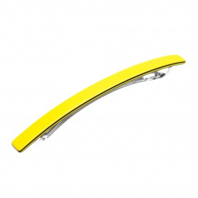 Medium size long and skinny shape Hair barrette in Yellow and black