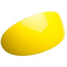 Extra large size oval shape Hair barrette in Yellow and black