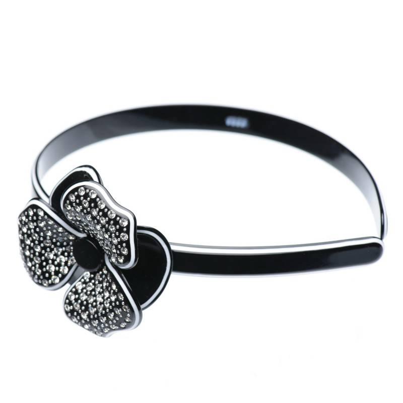 PLASTIC BANANA HAIR CLIP BLACK /& WHITE RIBBON SELECT COLOR